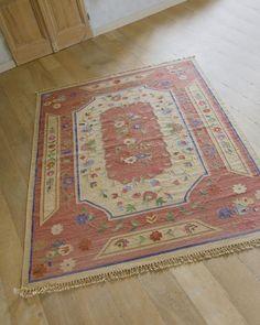 Aubussonteppich, rot, 170 x 240 cm