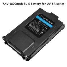 Big discount US $6.15  UV-5R BL-5 7.4V 1800mAh Li-ion Battery For Baofeng Walkie Talkie UV-5R UV-5RA UV-5RE Series Two Way Radio   #UV-R #--mAh #Li-ion #Battery #Baofeng #Walkie #Talkie #UV-RA #UV-RE #Series #Radio