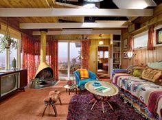 Megan's Laurel Canyon bungalow // Mad Men // California boho
