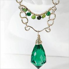 Wire and gemstones take center stage on this regal necklace #DealReveal | InterweaveStore.com