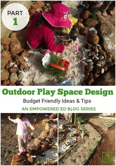 If you need to revamp tired outdoor play spaces or are ready to start designing a new space, this series will help you with simple,budget friendly ideas. Outdoor Learning Spaces, Outdoor Play Areas, Outdoor Activities For Kids, Outdoor Fun, Outdoor Education, Outdoor Ideas, Outdoor Spaces, Playground Swing Set, Outdoor Playground