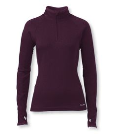 Women's Polartec Power Dry Base Layer, Quarter-Zip Expedition-Weight: Power Dry | Free Shipping at L.L.Bean  49.95