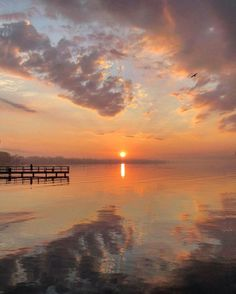 An incredible Anchor Bay sunrise in New Baltimore, courtesy of Instagrammar melinda.mccullough.