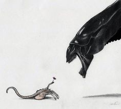 Happy Mother's Day! Facehugger and Xenomorph Queen by Robert Alicea. Too bad my mother wouldn't want this on a card.