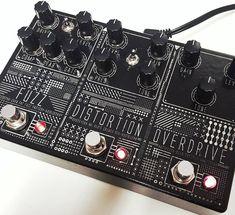 One big pedal, three big effects. Klon Centaur, MI Audio Crunchbox, Zvex Fat Fuzz Factory. #pedalboard #pedals #effectspedals #guitarpedals #gear #geartalk #tone #knowyourtone #guitar #klon #miaudio #zvex #fuzzfactory