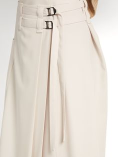 Click here to buy Bottega Veneta Wool-gabardine wrap skirt at MATCHESFASHION.COM