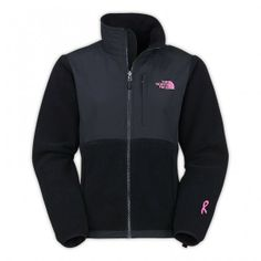 North Face WOMEN\'S PINK RIBBON DENALI FLEECE JACKET TNF BLACK $93 for #Cyber_Monday
