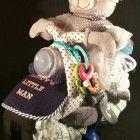 Teddy Bear Diaper Motorcycle w/ toy keys | baby bottles | boy | shower