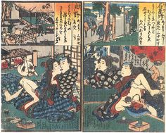 """Kunifusa Utagawa """"The fifty-three stages on the Tokaido"""" figure 4 Japanese Prints, Japanese Art, Medieval, Anatomy Poses, Spring Pictures, Erotic Art, Asian Art, Third, Fine Art"""