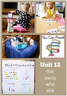 You Can Read Sight Words Unit 13 in action ~ lots of photos and hands on ideas for learning sight words!