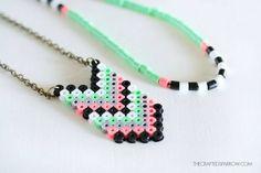 Collar y dije perler beads