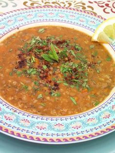 Ezogelin--Turkish Red Lentil Soup with Mint and Sumac