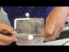 Coin Purse Clasp Installation Tutorial - YouTube