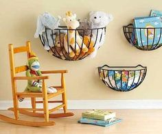 Flower basket storage ideas