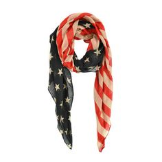 Vintage-style American Flag Scarf | Overstock.com Shopping - Great Deals on Scarves