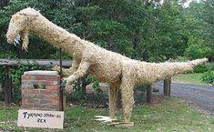 dinosaur scarecrow