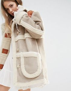 Order Moon River Faux Suede Coat With Faux Shearling online today at ASOS for fast delivery, multiple payment options and hassle-free returns (Ts&Cs apply). Get the latest trends with ASOS. Winter Coats Women, Coats For Women, Jackets For Women, Faux Shearling Jacket, Leather Jacket, Winter Wear, Autumn Winter Fashion, Pretty Outfits, Cool Outfits