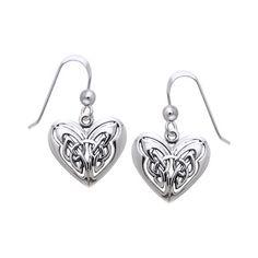 aea38f348 Jewelry Trends Sterling Silver Celtic Eternal Love Heart Knotwork Dangle  Earrings #jewelrytrends