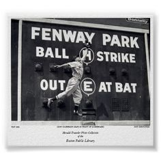 Leon Culberson leaps in front of scoreboard Print. my home will be covered in black and white photos Baseball Scoreboard, Baseball Posters, Red Sox Baseball, Baseball Art, Vintage Sports Nursery, Red Sox Nation, Fantasy Baseball, Fenway Park, Sports Photos