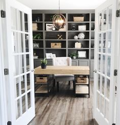 We are counting down the days! Only about two weeks till we move in to our house and we can hardly even stand it. Nice 43 Extraordinary Small Home Office Design Ideas With Traditional Themes. Home Office Decor, House, Interior, Home, New Homes, House Interior, Interior Design, Home Library, Office Design