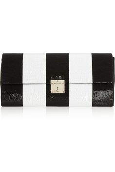 Marc Jacobs striped clutch (55% off)