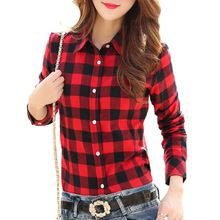 Like and Share if you want this  Brand New 2015 Fashion Women Blouses Long Sleeve Turn-down Collar Plaid Shirts Women Casual Cotton Shirt Style Blusas Femininas     Tag a friend who would love this!     FREE Shipping Worldwide     #Style #Fashion #Clothing    Get it here ---> http://www.alifashionmarket.com/products/brand-new-2015-fashion-women-blouses-long-sleeve-turn-down-collar-plaid-shirts-women-casual-cotton-shirt-style-blusas-femininas/