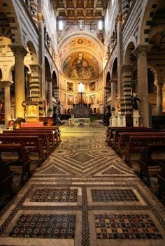 Interior, Pisa Cathedral #architecture #italy
