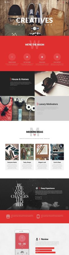 The Moon - Creative One Page Multi-Purpose Theme Wordpress Template, Wordpress Theme, Creative Web Design, Web Design Projects, Ui Web, Professional Website, Website Designs, Website Layout, Flyer Design Templates
