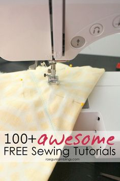 Fabulous collection of fast and easy sewing tutorials. Great for learning to sew and beginners.