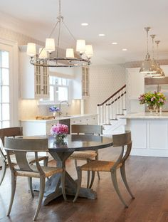 Transitional Kitchen Island Tapered Leg Design Ideas, Pictures, Remodel and Decor
