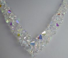 Sexy V-Shape Swarovski Crystal Necklace by TantalizingTangibles