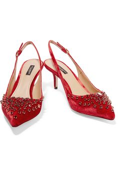 Shop on-sale Dolce & Gabbana Crystal-embellished velvet pumps. Browse other discount designer Pumps & more on The Most Fashionable Fashion Outlet, THE OUTNET.COM