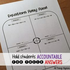 It& time we hold students accountable for their answers. Algebra Activities, Maths Algebra, Teacher Resources, Math Games, Calculus, Math Teacher, Math Classroom, Teaching Math, Teaching Ideas