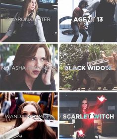 Agent 13, Black Widow, Scarlet Witch