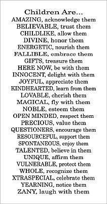 Children. Love this. What a wonderful reminder!