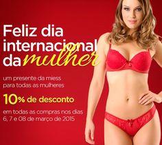 Comemore o Dia Internacional da Mulher com a Miess comprando qualquer item do site com desconto de 10% até dia 8 de março.