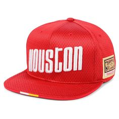 newest 8bfa4 5ebfe Houston Rockets Mitchell   Ness Hardwood Classics Link Up Snapback Hat – Red,  Your Price