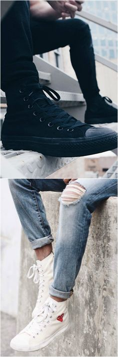 9217cf950d44 Converse High Tops Sneakers  Nailing Lace Up Style. Up StylesSkinny JeansFootwear  ...