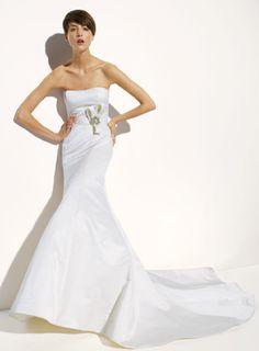 Amsale 'Nicole' Trumpet Wedding Dress - Nearly Newlywed Wedding Dress Shop
