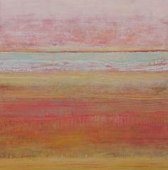 """Morning Has Broken Like the First Morning -Cat Stevens Oil and cold was on wood panel, 30""""x30"""", Peg Bachenheimer"""