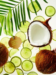 A fresh mix of coconut water & lime blossom. #CoconutLimeBreeze