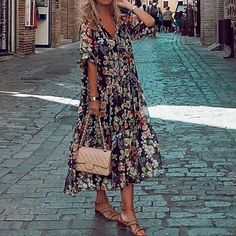 LightInTheBox - Global Online Shopping for Dresses, Home & Garden, Electronics, Wedding Apparel Robe Swing, Swing Dress, Half Sleeve Dresses, Half Sleeves, Manga Floral, Shift Dresses, Midi Dresses, Loose Dresses, Cheap Dresses