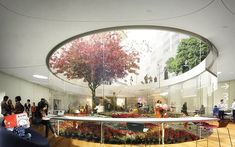 """Design for Sydney's Green Square, a """"community living room"""" theme. Pic is of the view of the Green Square library garden with plaza above. In construction. Pavilion Architecture, Landscape Architecture, Landscape Design, Architecture Design, Green Architecture, Patio Circular, Public Library Design, Public Library Architecture, Plaza Design"""
