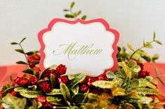 Christmas Name Tags  A Red and Green Traditional by lovetheday, $8.00