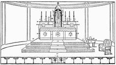 THE FURNISHINGS IN THE SANCTUARY.. - Sacristan's Manual for the Extraordinary Form - SanctaMissa.org