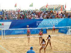 Russia versus Canada in beach volleyball (ATR).