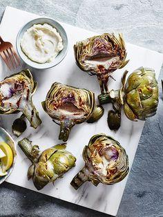 Artischocken grillen mit Zitronen Aioli ❤︎ Grilled artichokes with lemon aïoli