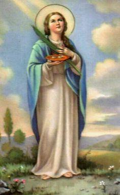 Santa Cecilia, Patrona de las personas con problemas en la vista.
