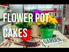 How to Cake... A FLOWER POT CAKE! Chocolate cake layered with coffee buttercream. Covered in Oreo cookie crumble and chocolate cake dirt. Make your cakes with a fondant pot OR bake right in a terra cotta pot! #MothersDay #baking #dessert