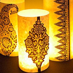 Quick & easy paper lanterns to download. Print, cut out, glue - done!